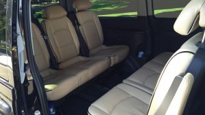 Luxury people mover limousine with baby seat Melbourne